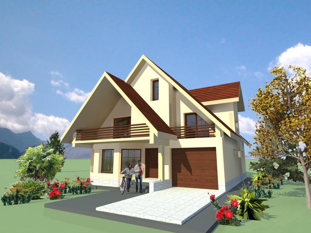 Arhiconstruct casa b58 for Youtube case cu mansarda