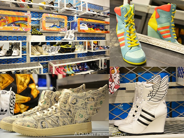 The winged Adidas:Jeremy Scott Sneakers for him and her that took my breath away.