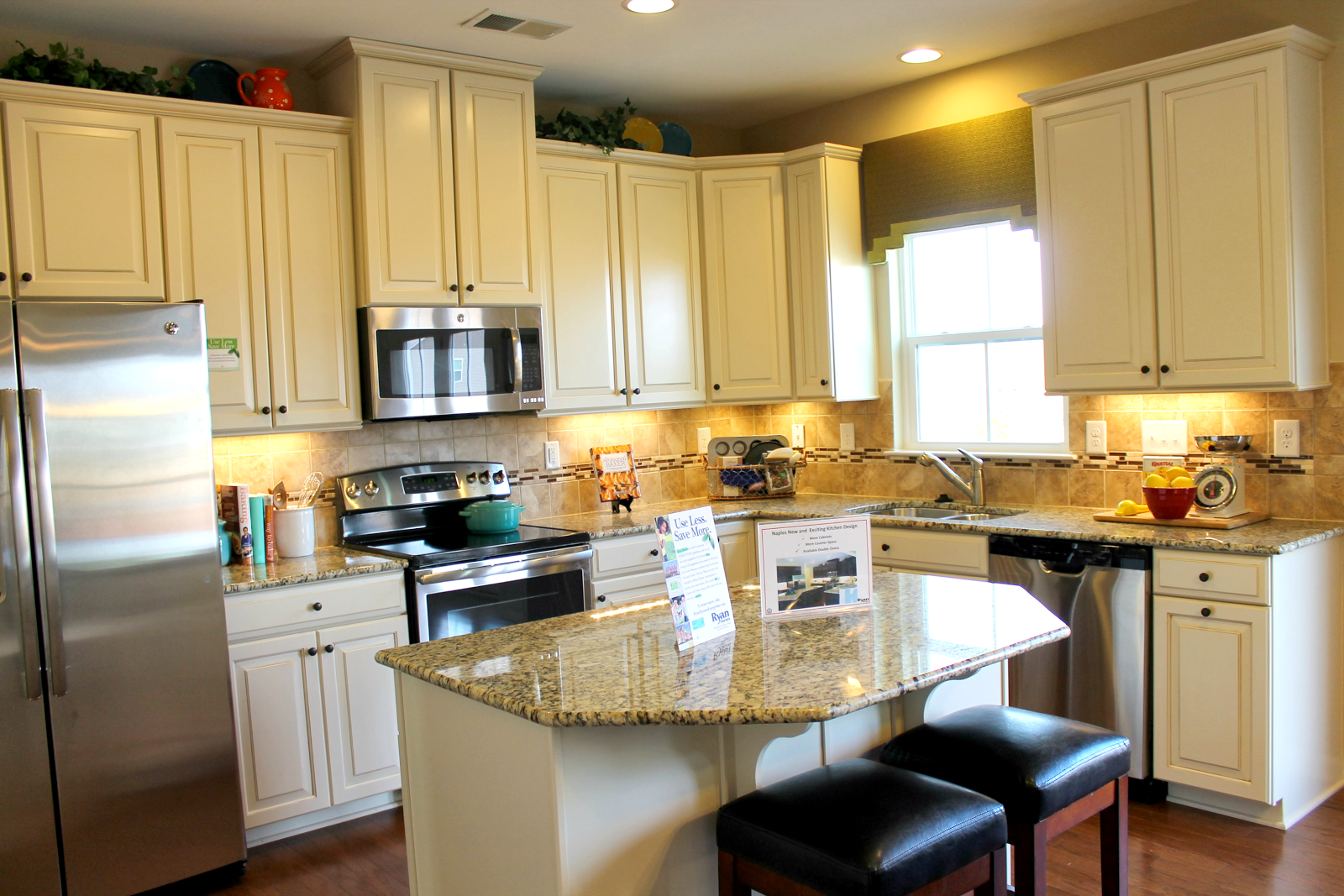 Sweet home carolinas our kitchen selections granite for Model kitchens with white cabinets