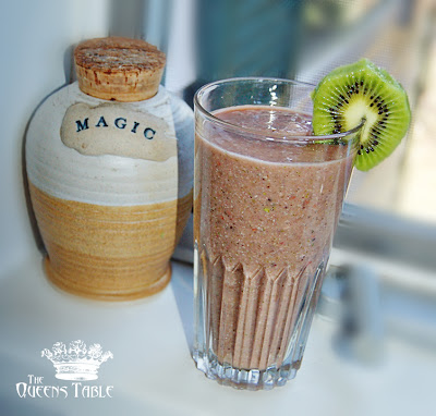 Pear Kiwi Raspberry Super Smoothie