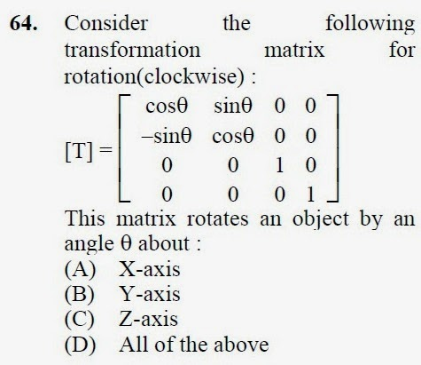 2013 September UGC NET in Computer Science and Applications, Paper III, Question 64