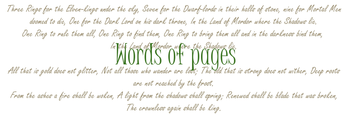 Words of pages