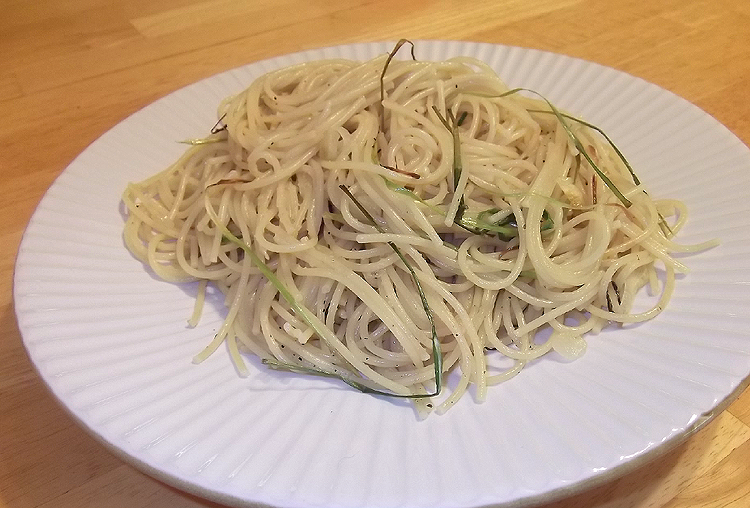 Spaghetti with Green Garlic and Olive Oil from Fine ...