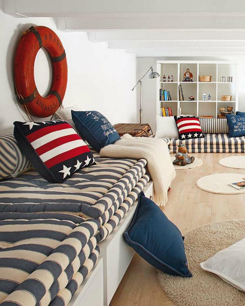 Coastal home inspirations on the horizon coastal rooms - Habitaciones juveniles con estilo ...