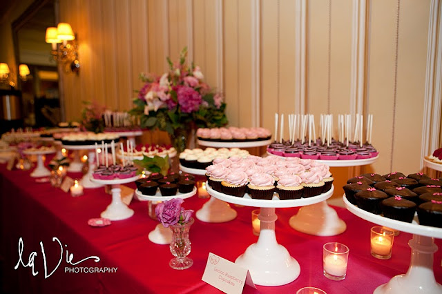 Pink Dessert Table for Minneapolis Wedding