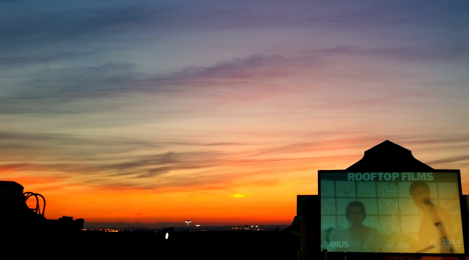 sunset rooftopfilms rooftop film brooklyn the one i love nyc solnedgang new york sommer