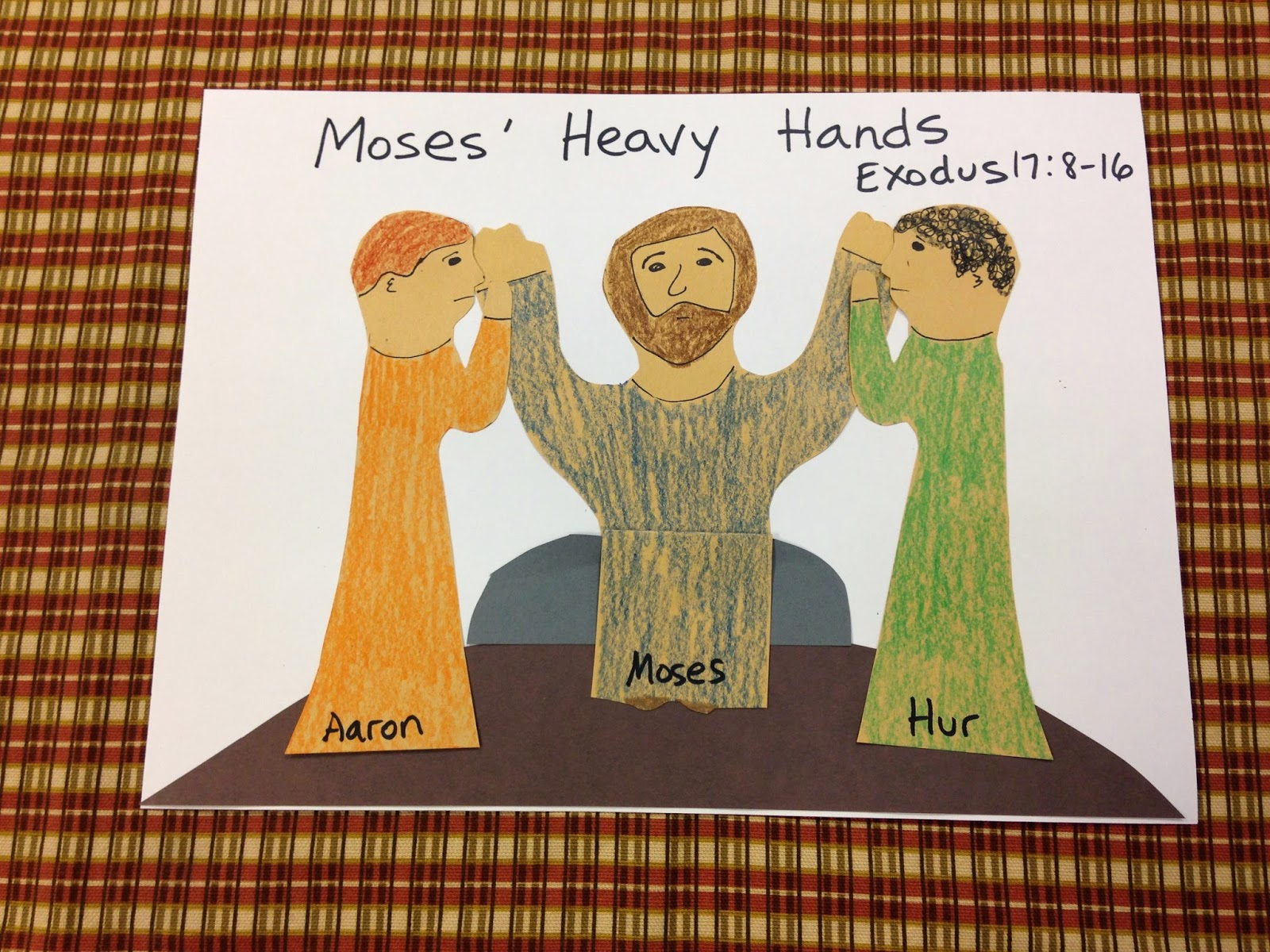Children S Bible Lessons Lesson Moses Heavy Hands