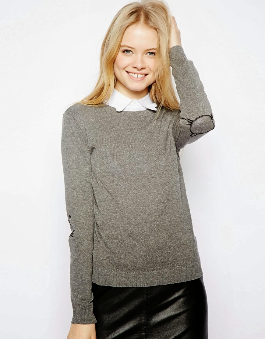 asos elbow patch jumper