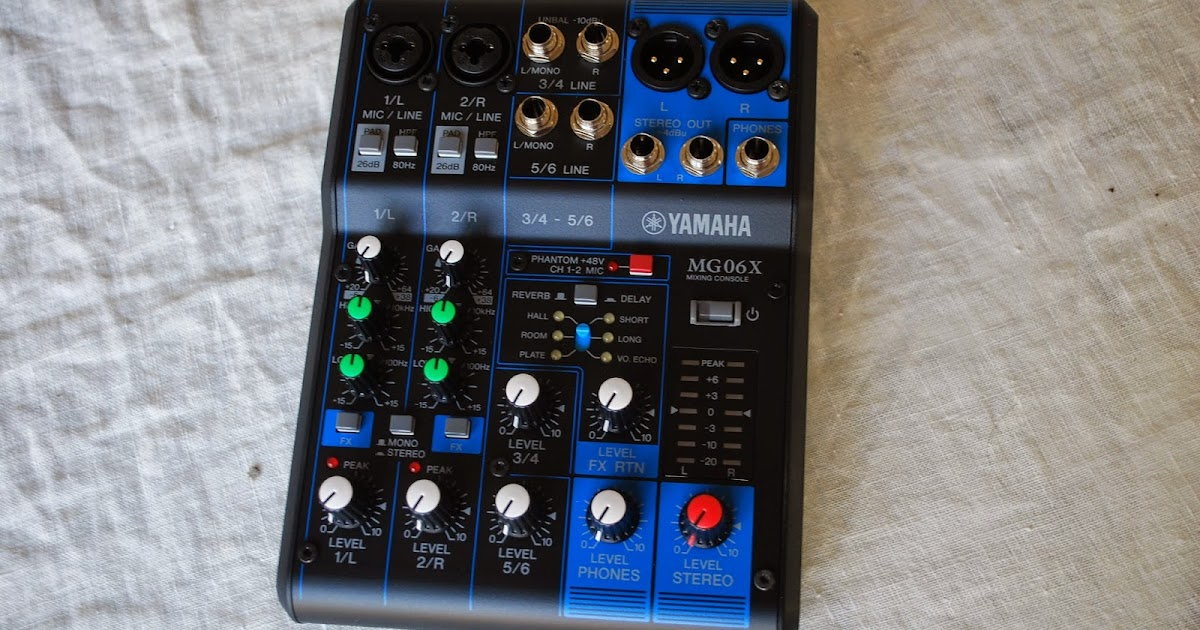 Rex and the bass yamaha mg06x mixing console review for Yamaha mixing boards