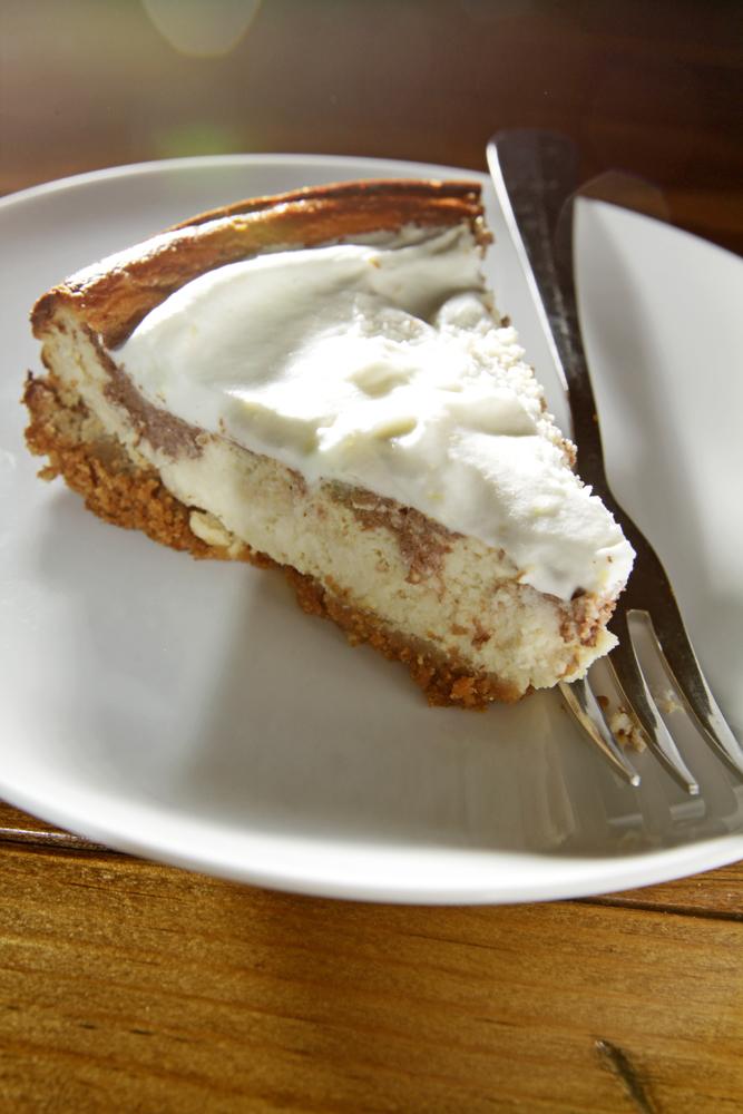 The Chubby Vegetarian: Healthy-ish Marbled Cheesecake