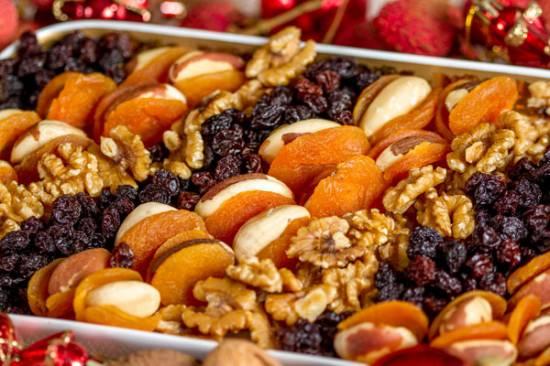 Aperitivo de Frutas Secas, receita fácil