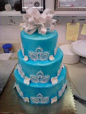 Blue Wedding Cake Designs