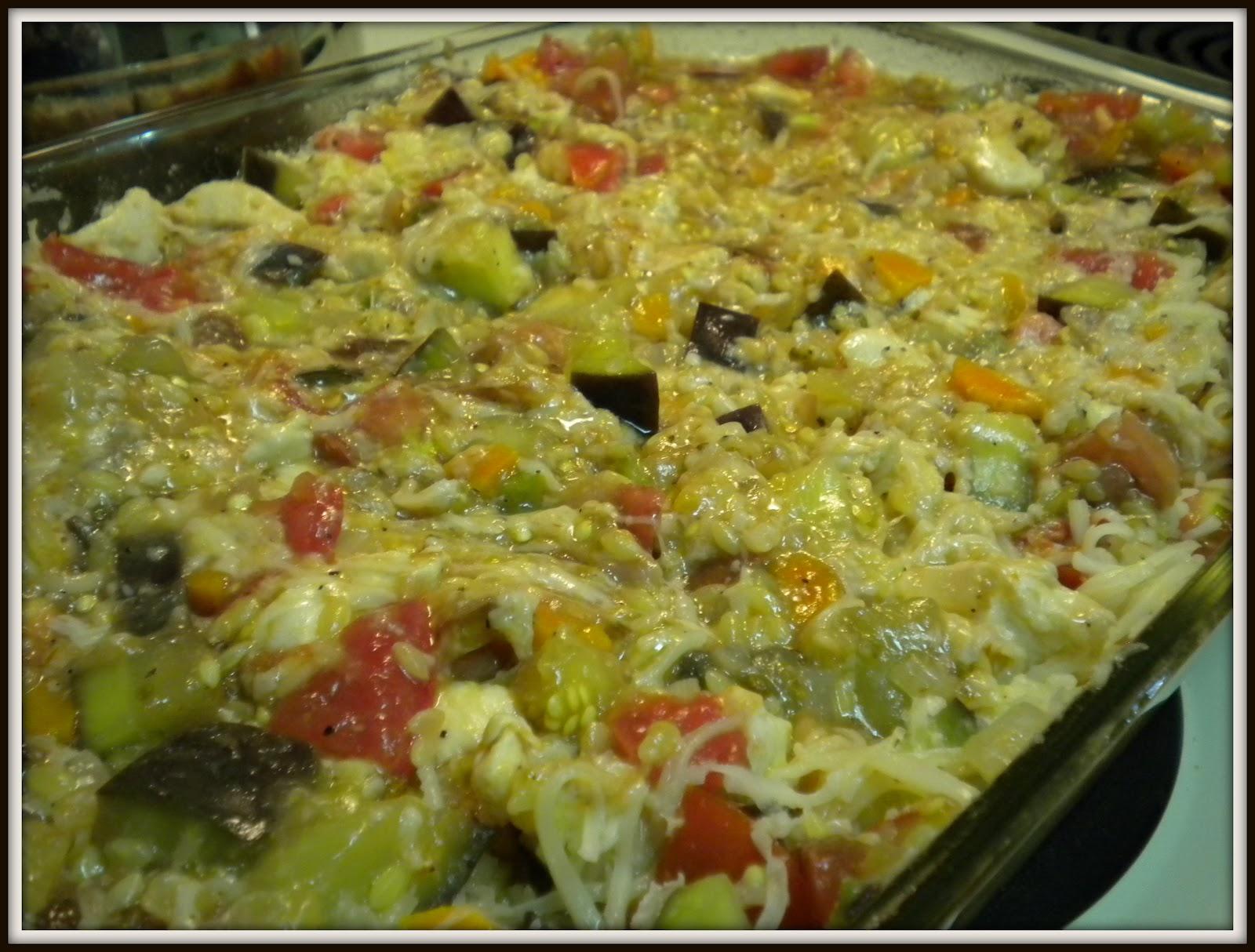 girl eats world: Baked Orzo with Eggplant and Mozzarella