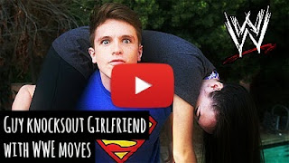 watch angry boyfriend knockout his girlfriend with WWE finishing moves via geniushowto.blogspot.com funny videos