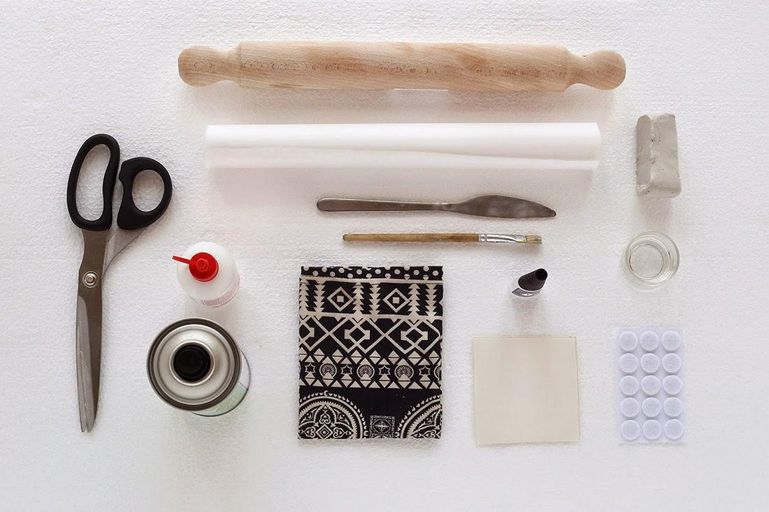 DIY, Posavasos de Ceramica y Tela