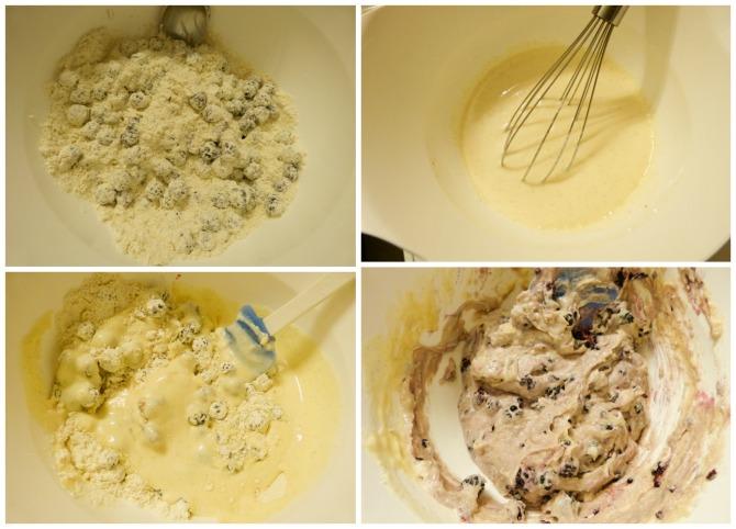elaboración de muffins de moras