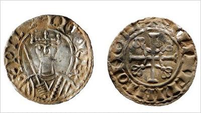 Moeda medieval encontrada