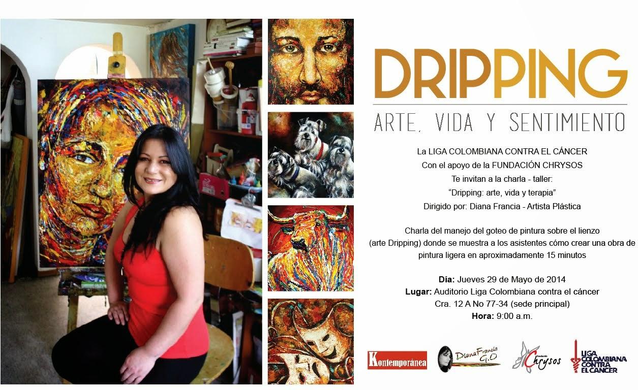 """CHARLA - TALLER """"DRIPPING, ARTE VIDA Y SENTIMIENTO"""" por DIANA FRANCIA"""