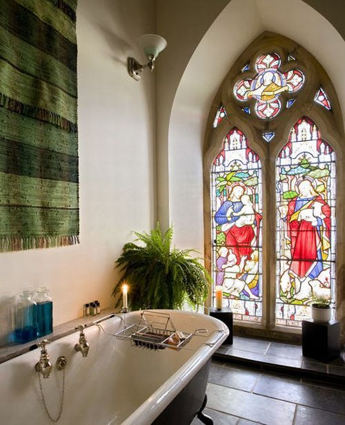 Not Only Does The Stain Glass Allow You To Use Big Windows Or Doors In The  Bathroom Without Sacrificing On Privacy, But They Can Be The Show Stopping  ...