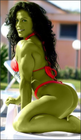 Cosplay She Hulk Costume