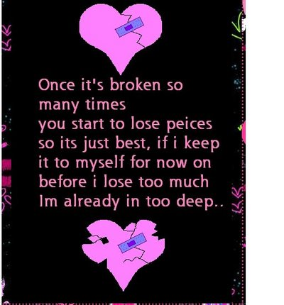 heart break quotes. Heart Broken Myspace Quote · As The One Who Broke My Heart