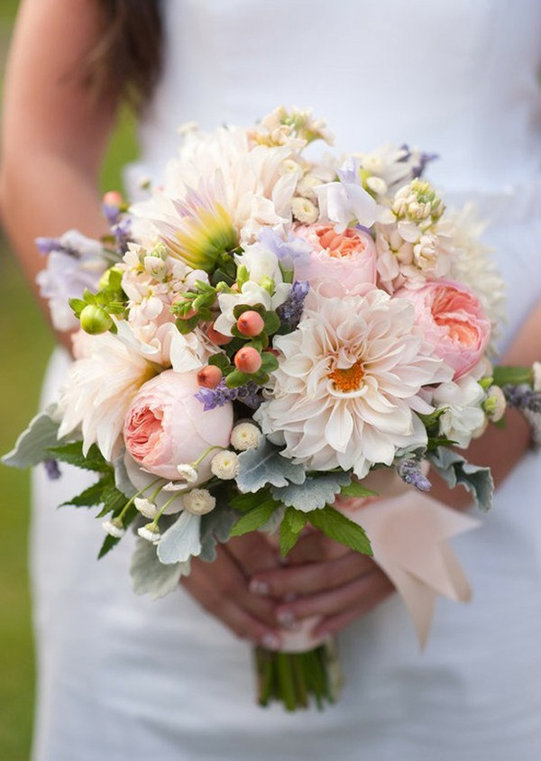 Bridal Bouquets With Cabbage Roses : One perfect day august