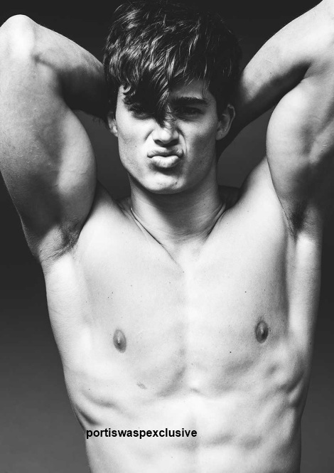 Pietro Boselli in hus underwear by Darren Black