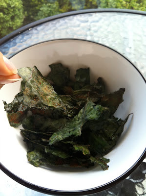 Southern Spoon Blog: seasoned swiss chard/ kale chips
