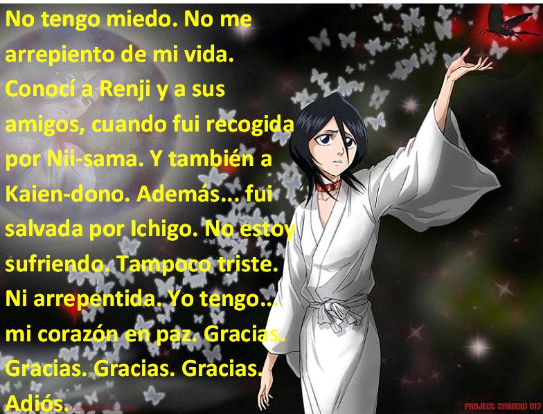 Frases con fotos del anime. Rukiadgd