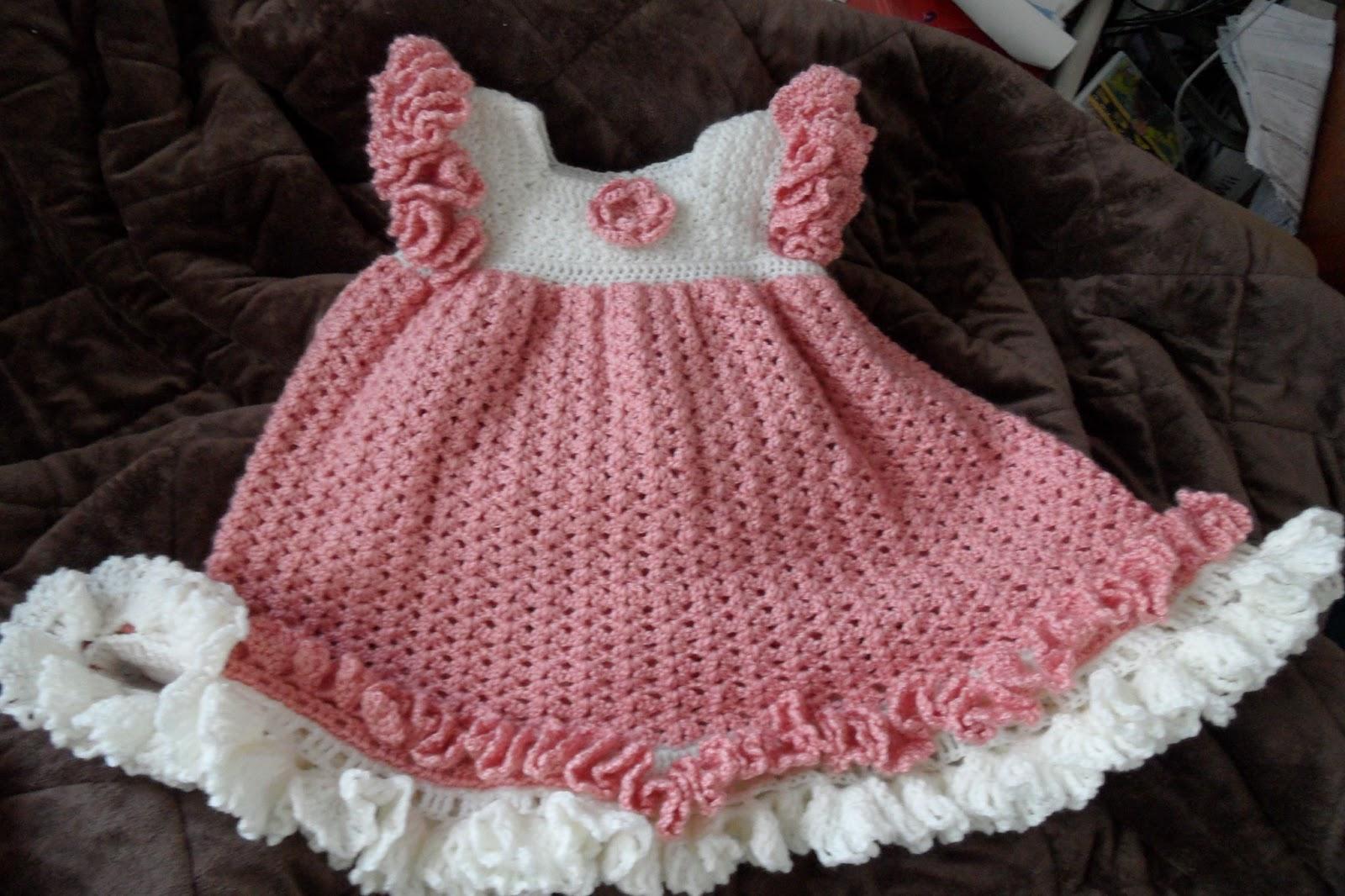 Vestidos en crochet para bebé paso a paso - Imagui
