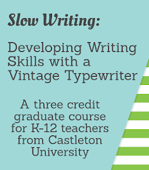 Get a typewriter, graduate credit, and learn about writing!