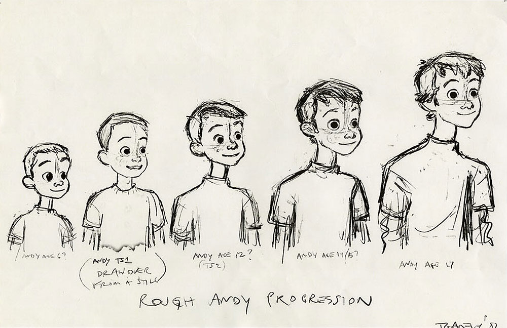 Pixar Character Design Book : Living lines library toy story character design