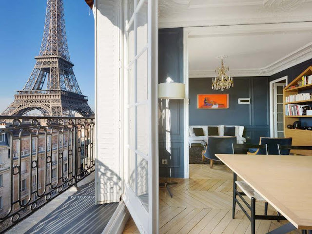 Picture of the apartment and Eiffel Tower outside