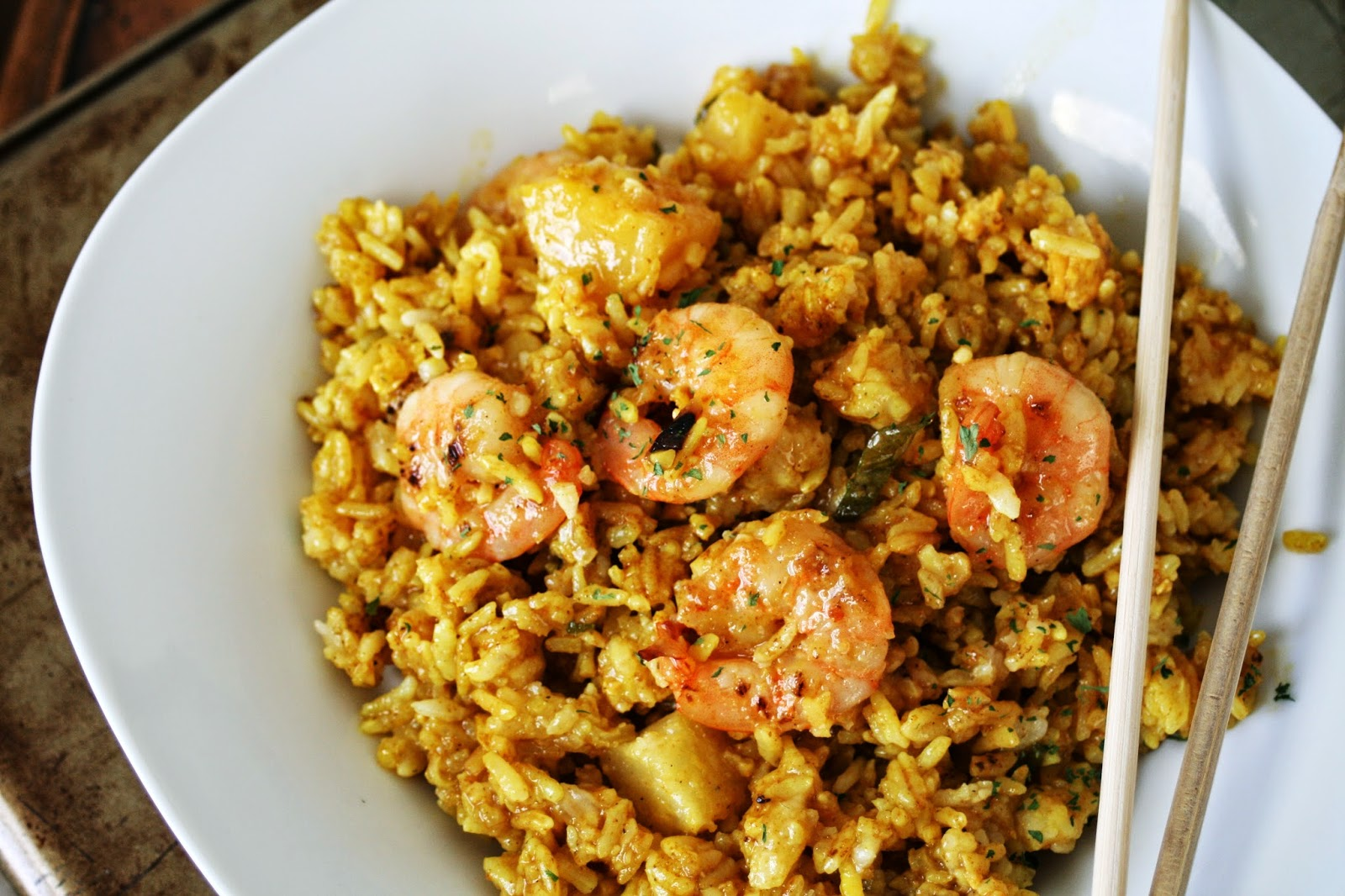 Thee Cook: Thai Shrimp and Pineapple Fried Rice