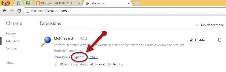 Multi Search Extension chrome