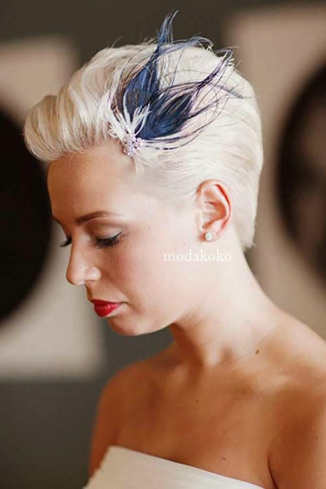 Kısa Saçlar İçin Gelin Başı Modelleri 2015