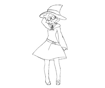 #3 Witch Coloring Page