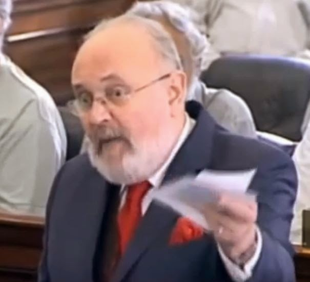 Senator David Norris. (Screen capture from Youtube video)