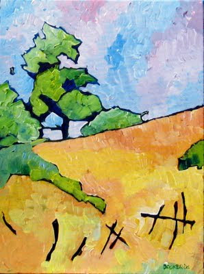 california foothills painting
