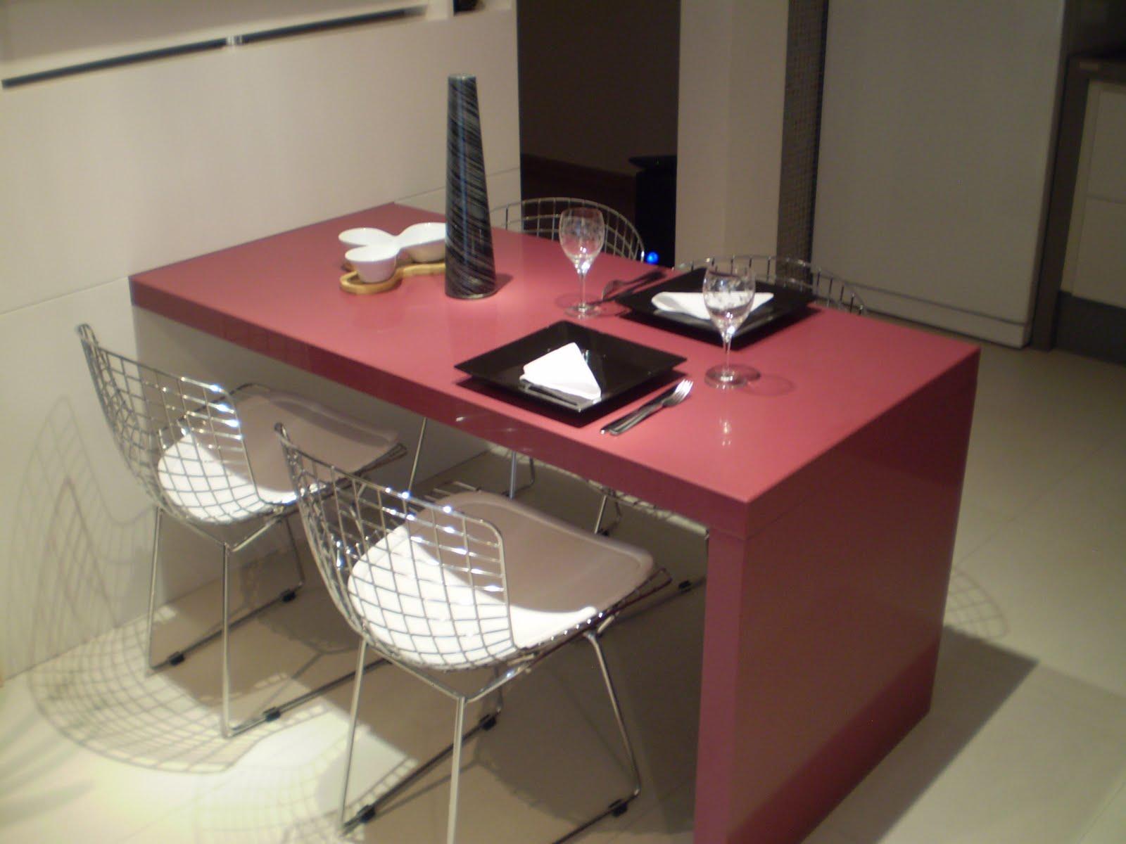 Ranieri Mármores e Revestimentos Especiais: Mesa em Silestone Koan #8C3F45 1600x1200