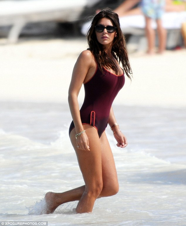 Danielle Lineker is incredibly hot in a stunning one piece swimsuit