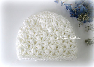 Soft Puffs Baby Hat Crochet Pattern, Size 3-6 Months, $2.45