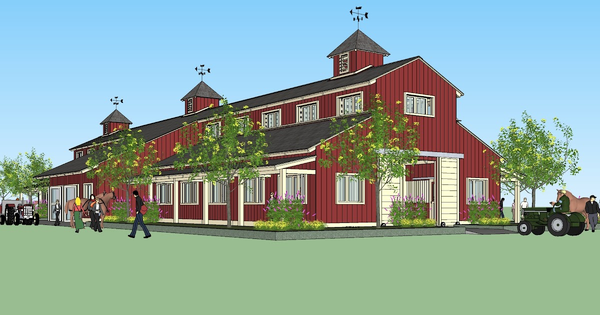 Home garden plans horse barns for Horse barn plans free