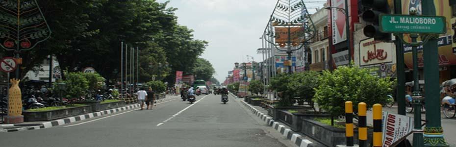 Yogyakarta downtown malioboro street