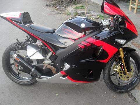 Gambar Modifikasi Motor Yamaha Vixion New Terbaru Hitam Merah
