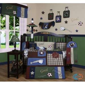 Boutique Classic Sports CRIB BEDDING SET