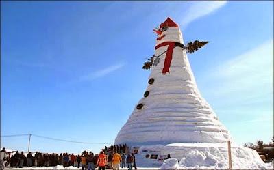 El Muñeco de nieve más grande