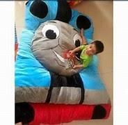 gambar kasur anak berkarakter thomas