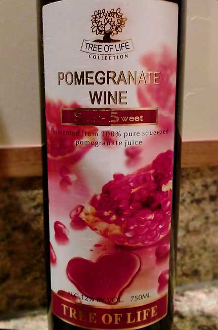 Click Here for pomegranate wine