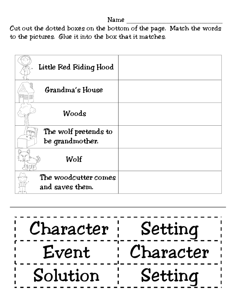 ... worksheet to see if they can match the picture/sentence with the story